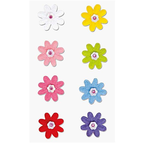 Paper Poetry Filzsticker Blumen 1 mehrfarbig