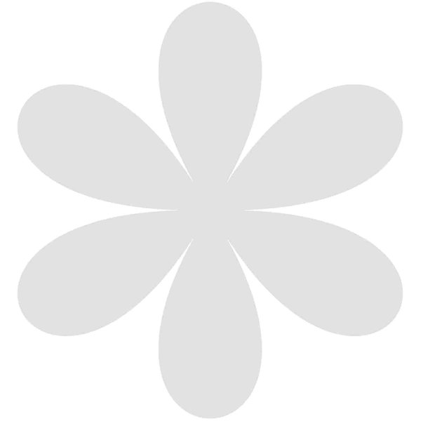 Rico Design Cardboard Blüten 7,5x8,1cm 3 Stück