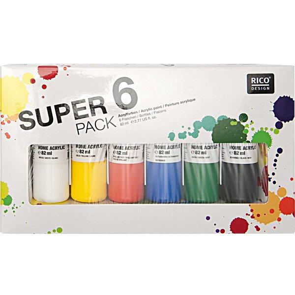 Rico Design Super 6 Pack Home Acrylic 6x82ml