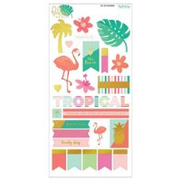 DECOHOBBY ScrapbookingSticker Palm Beach 32 Stück