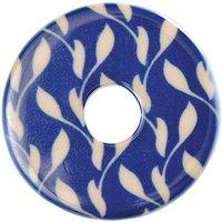 Rico Design Kunststoffscheibe Ranke blau-beige 25mm