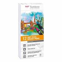 Tombow ABT Dual Brush Pen Grautöne 12er Set