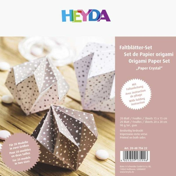 HEYDA Faltblätter crystal roségold  20x20cm 40 Blatt