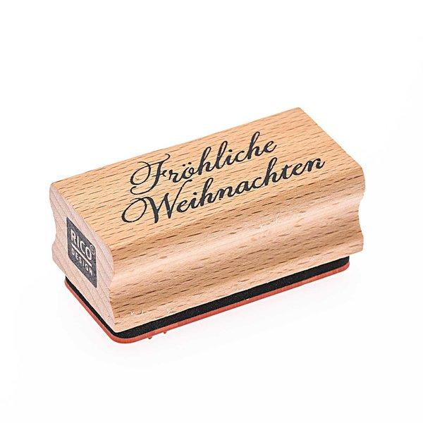 Rico Design Stempel Fröhliche Weihnachten 5x2,5cm
