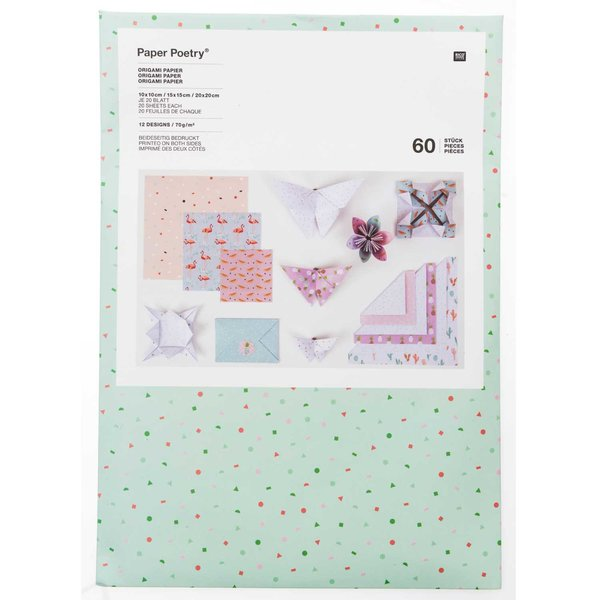 Paper Poetry Origami Faltpapier Set Tropical Spring 60 Blatt