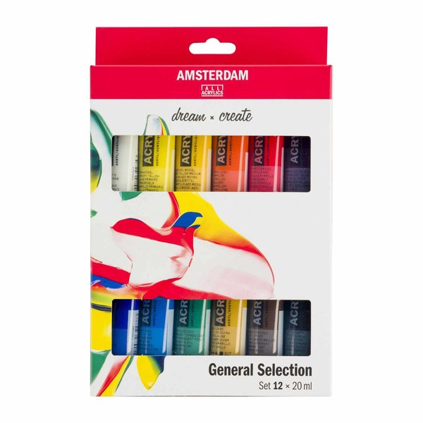 AMSTERDAM Acrylfarbe Set 12x20ml