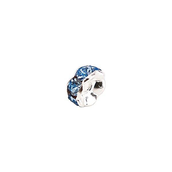 Rico Design Strassrondell wellig blau 8mm 6 Stück