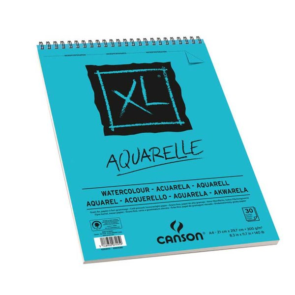 Canson XL Spiralblock Aquarelle A4 30 Blatt