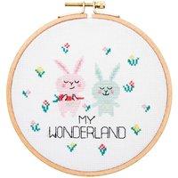 Rico Design Stickpackung Hasenpaar Wonderland 15,5cm