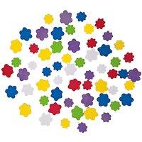 Rico Design Moosgummi Blumen mehrfarbig selbstklebend