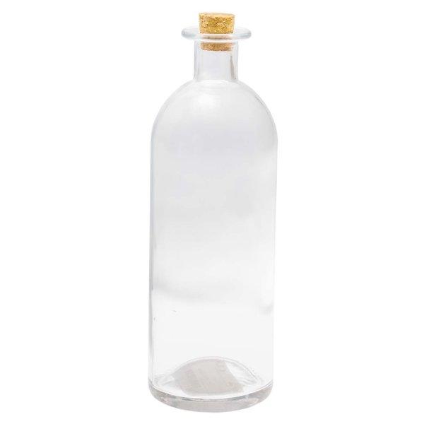 Deko-Glasflasche mit Korkverschluss 21,5x7cm