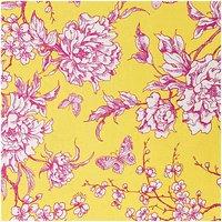 Rico Design Stoff Kirschblüte gelb-rot 50x140cm beschichtet