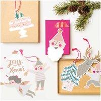 Paper Poetry Papieranhänger Jolly Christmas pastell 8 Stück