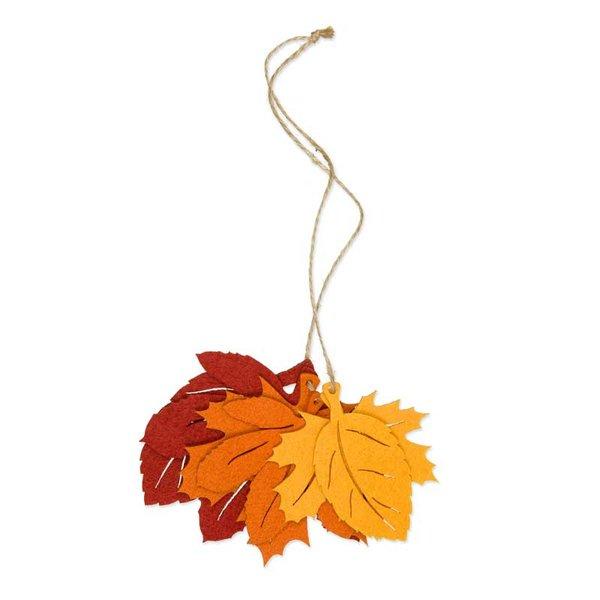 Filzdeko Herbstblätter terracotta 6 Stück