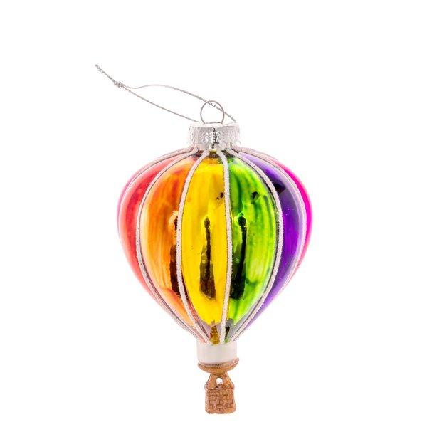 Baumschmuck Heißluftballon Regenbogen 11cm