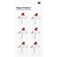 Paper Poetry 3D Sticker Schneemänner