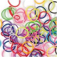 Jewellery Made by Me Loom Bänder Mix fluoreszierend-neon ca. 200 Stück