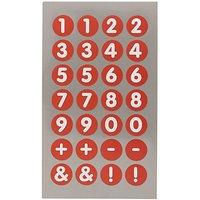 Paper Poetry Office Sticker Zahlen rot-weiß 13mm 4 Bogen