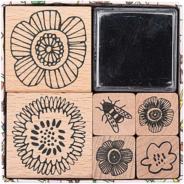 Paper Poetry Stempelset Blumen 6 Stück