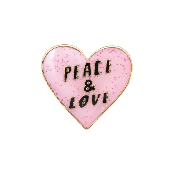 Jewellery Made by Me Pin Peace Love 27x26mm