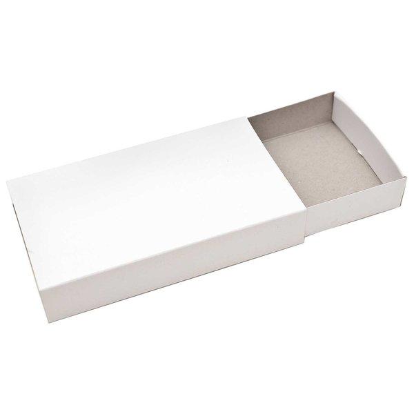 Rico Design Streichholzschachtelset groß 11x6,3x2cm weiß 12 Stück
