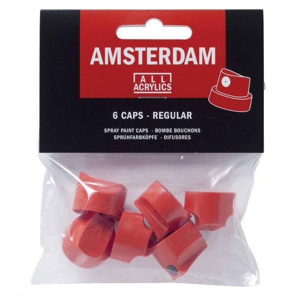 AMSTERDAM Sprühfarbköpfe regular 6 Stück