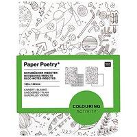 Paper Poetry Notizbuch A6 Insekten zum Ausmalen 2 Stück