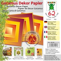 Nice Papers Origami Papier rot-gelb 15x15cm 62 Blatt