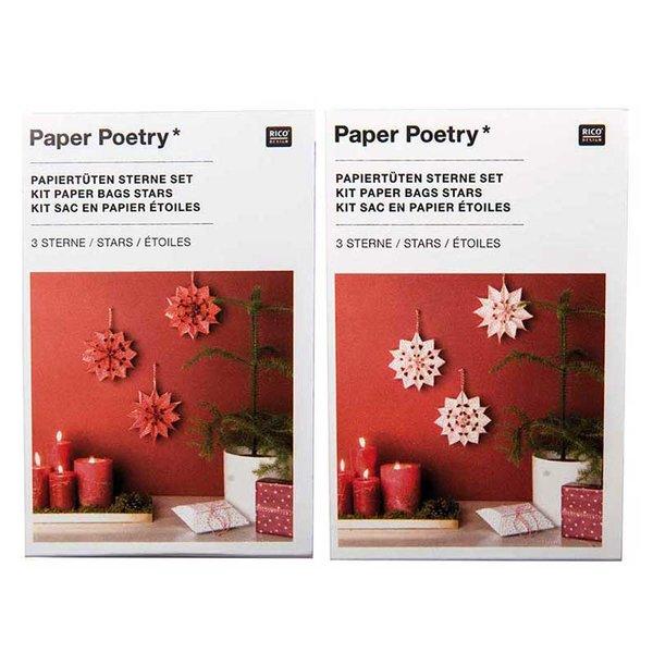 Paper Poetry Bastelset Papiertüten-Sterne Punkte klein
