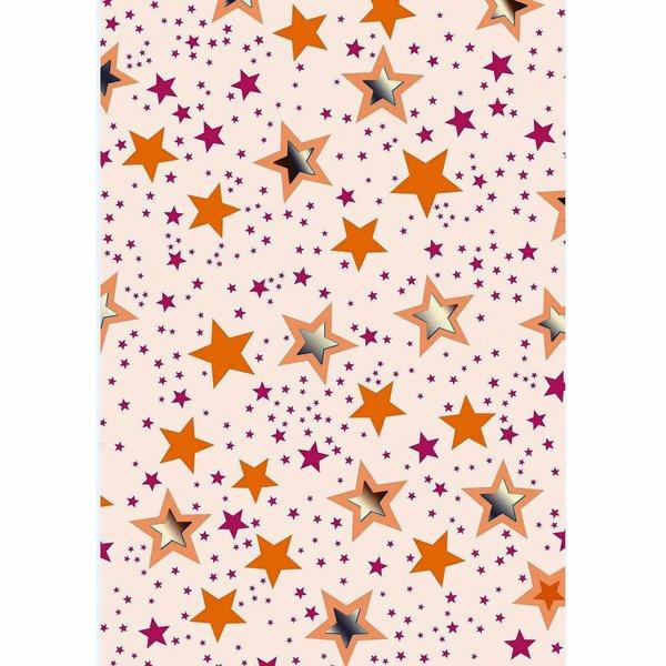 MARPA JANSEN Faltblätter Sterne transparent 15x15cm 32 Stück