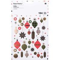 Paper Poetry Sticker Baumschmuck 6 Blatt