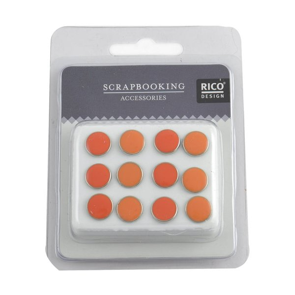 Rico Design Scrapbooking Nieten emailliert orange 12 Stück