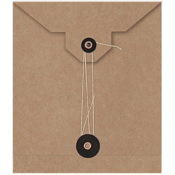 Paper Poetry Kraftpapier Umschläge 15x13cm 2 Stück