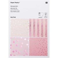 Paper Poetry Motivpapier Block beere 270g/m² 20 Blatt Hot Foil