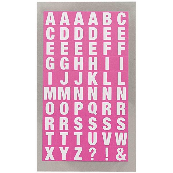 Paper Poetry Office Sticker Buchstaben pink-weiß 4 Bogen