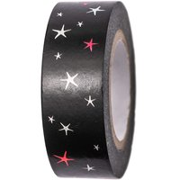 Paper Poetry Tape Sterne schwarz 15mm 10m