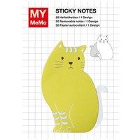Rico Design Sticky Notes Katze gelb 50 Stück