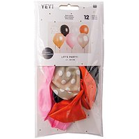 YEY! Let's Party Luftballons Halloween Mix ca. 30cm 12 Stück