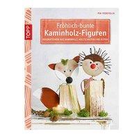 TOPP Fröhlich-mehrfarbige Kaminholz-Figuren