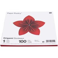Paper Poetry Origami bordeaux 15x15cm 100 Blatt