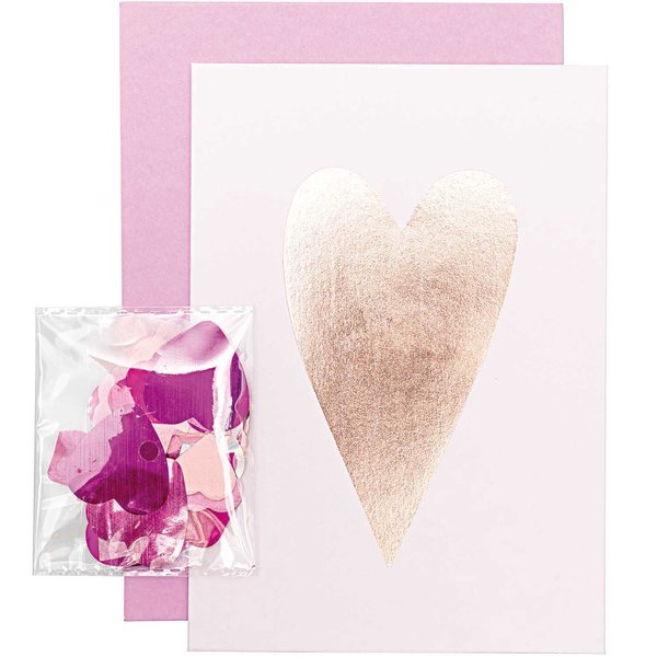 Paper Poetry Grußkartenset It must be love Herz pink