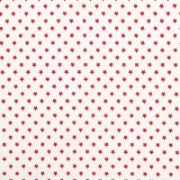 Rico Design Stoff Sterne rot 50x55cm