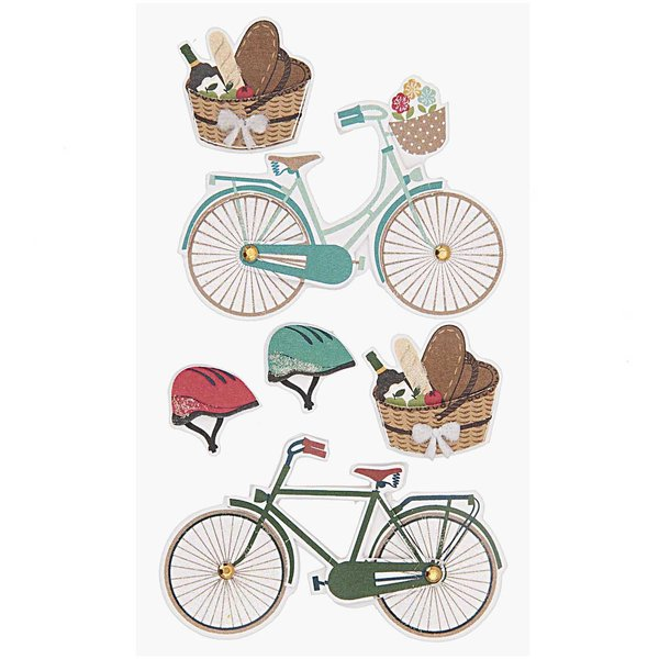 Paper Poetry 3D Sticker Fahrradtour