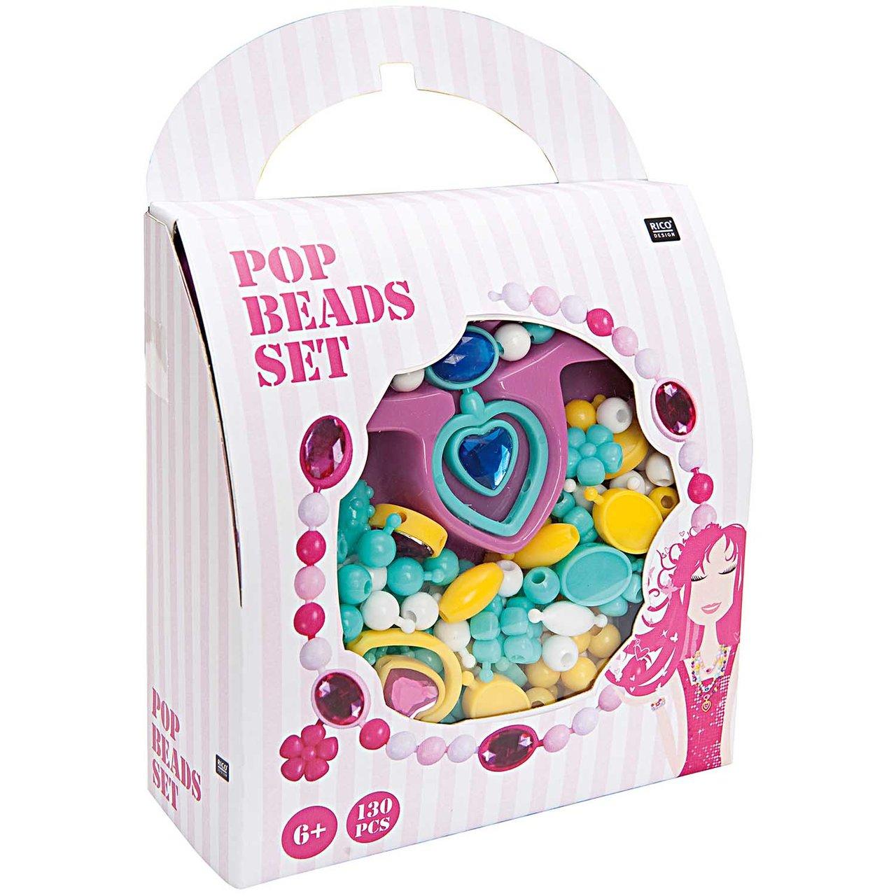 Rico Design Pop Beads Set türkis groß