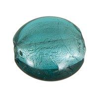 Jewellery Made by Me Linse petrol 23x9mm Glas 2 Stück