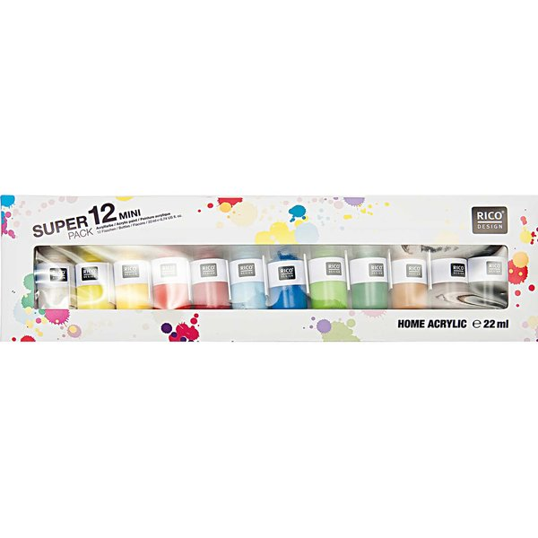 Rico Design Mini Home Acrylic 12er Set
