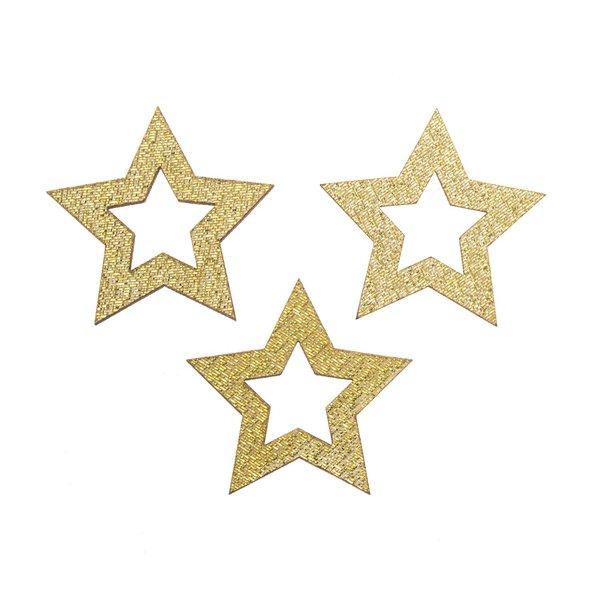 Sternstreu gold-glitter 3,5cm 12 Stück