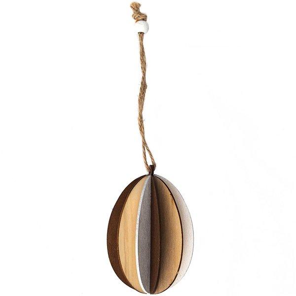 Hänger Holz-Ei natur-weiß 8,5cm