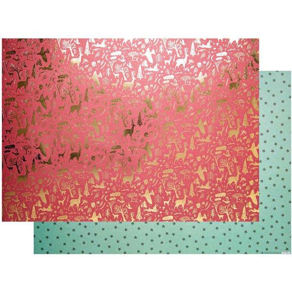 Paper Poetry Motivkarton Nostalgic Christmas rot-grün 50x70cm