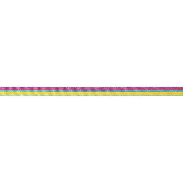 Rico Design Ribbon Streifen mehrfarbig neon 2m